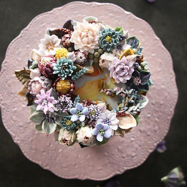 ㅡ Bitter. Soo.  ㅡ  #flower #cake #flowercake #partycake #birthday #weddingcake #buttercreamcake #buttercream #designcake #soocake #플라워케익 #수케이크 #꽃스타그램 #버터크림플라워케이크 #베이킹클래스 #플라워케익클래스 #생일케익 #수케이크 #프로테아  www.soocake.com vkscl_energy@naver.com