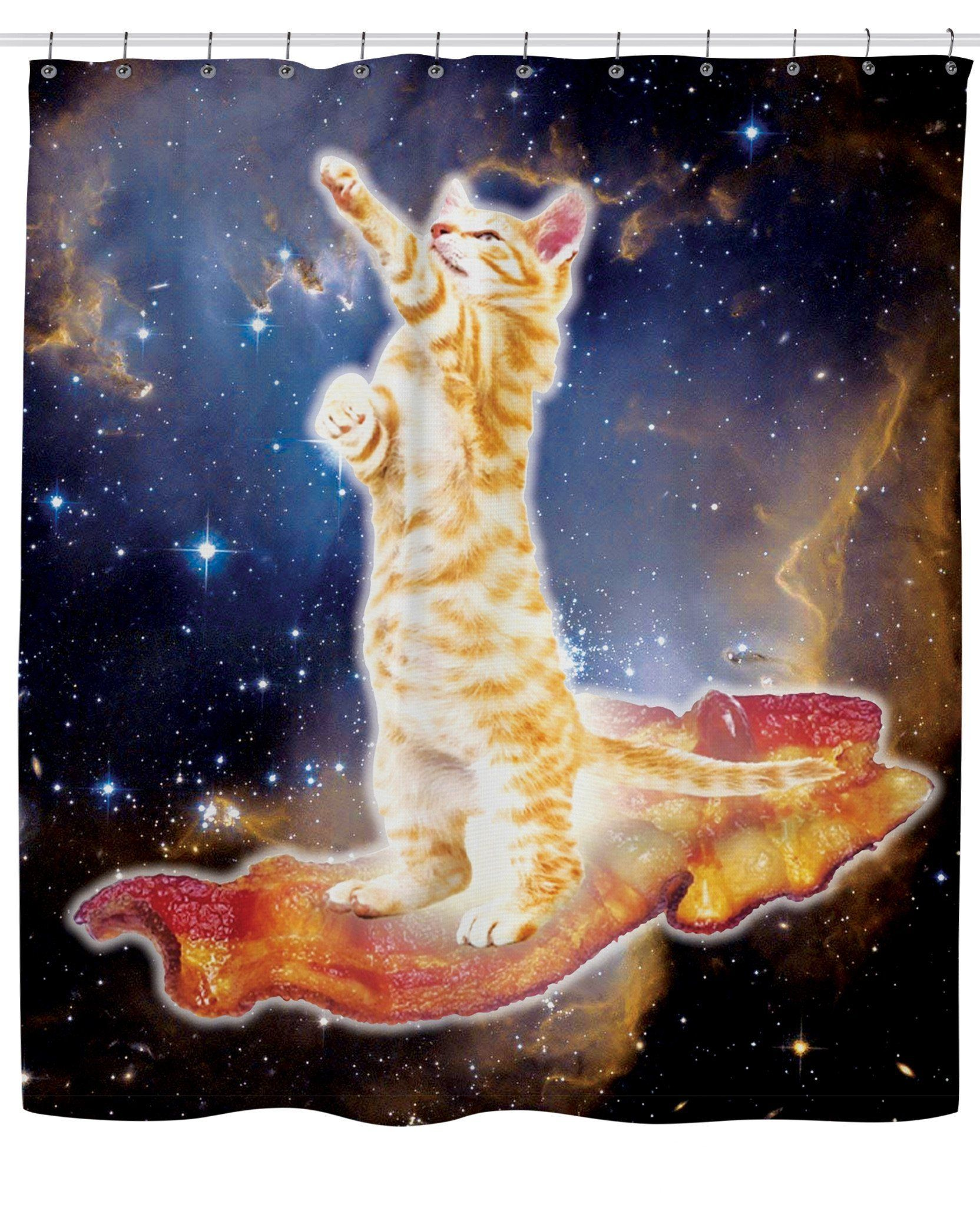 ROSC Bacon Cat Shower Curtain