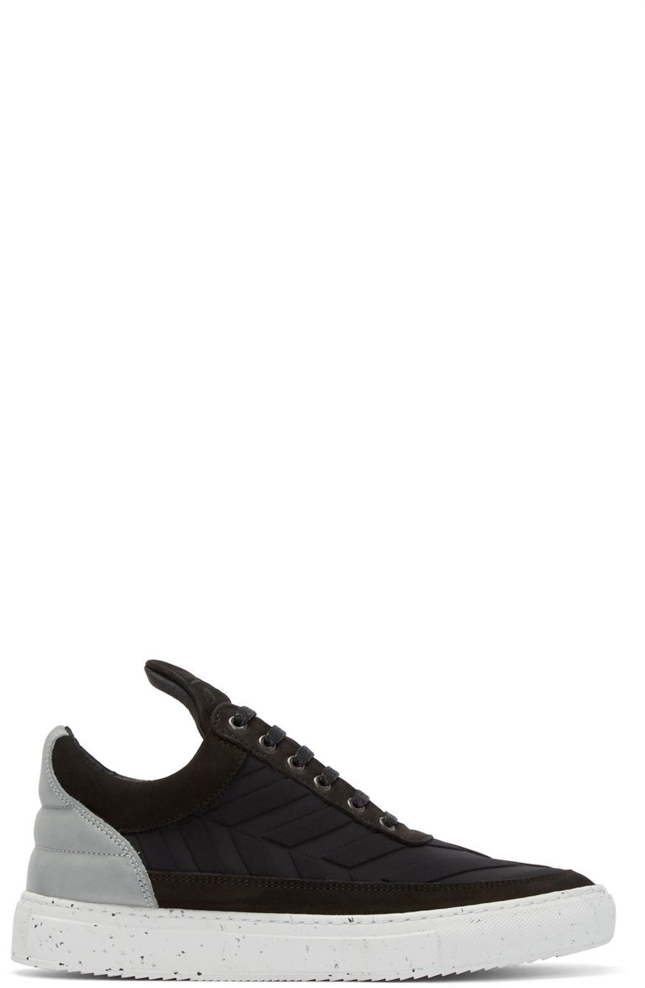 newest bc42d 3a4d5 Filling Pieces - Black Neoprene Speckle Sneakers