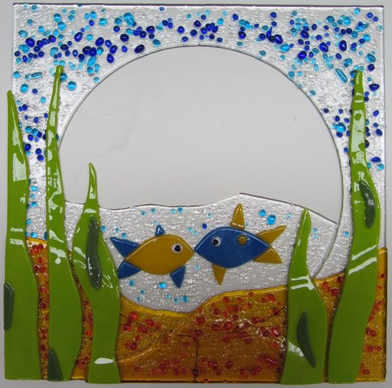 Handmade at Showcase Glass in Stirling on the 'Make a Magical Mirror' workshop. Call 07812 812 812 to make your own mirror or for further information.
