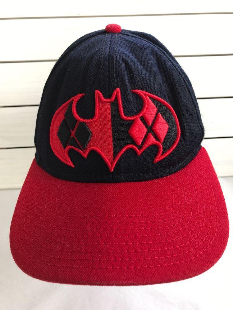 0d26753621719 DC Comics Batman Harley Quinn The Joker Snapback Red Black 3D Hat Cap  Embroider  DCComics  TruckerHat