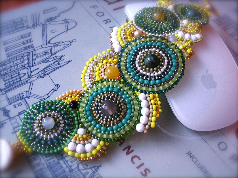Lime, Lemon Beaded Bracelet. $150.00, via Etsy.
