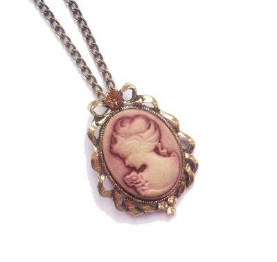Dusky Pink Cameo Necklace £4.50