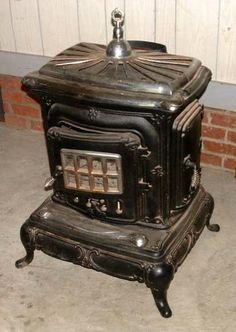 Old Wood Cooking Stoves Antiques Antiques Cast Iron Antique Style Wood Burning Parlor Stove Wood Burning Stove Parlour Stove Wood Stove
