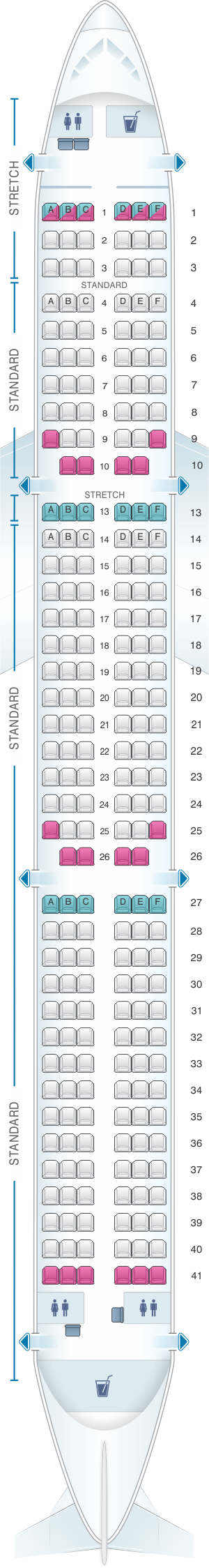 Frontier Airlines Seating Chart Airbus A321 In 2020 Alaska Airlines Kingfisher Airlines American Airlines