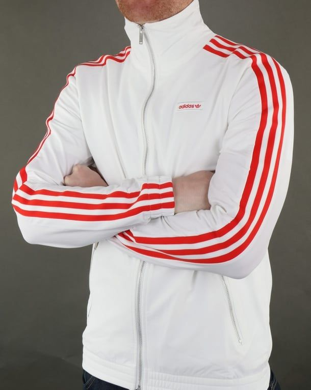221eb603912614 Adidas Originals Mdn Track Top White, Men's, Jacket | Adidas in 2019 ...