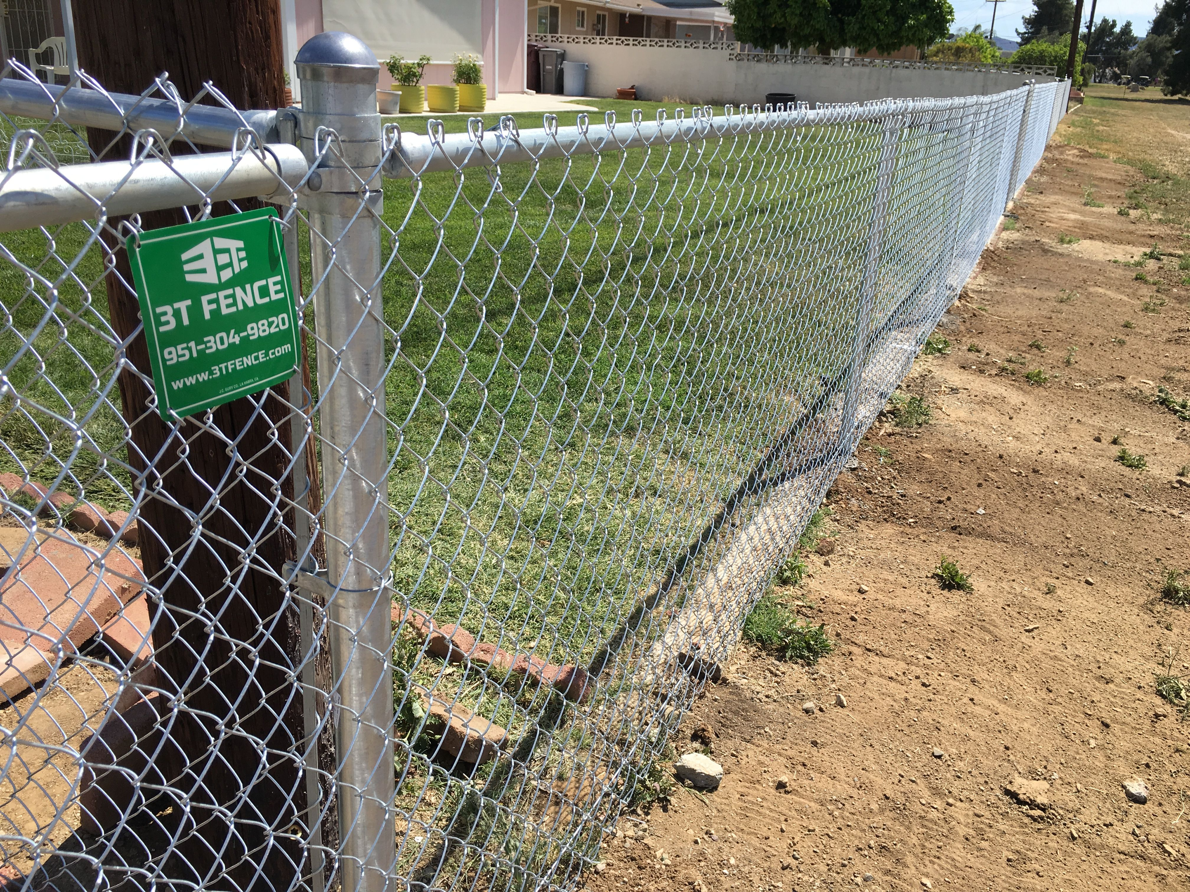 Chainlink Fence Corona Ca With Images Iron Fence Wrought Iron