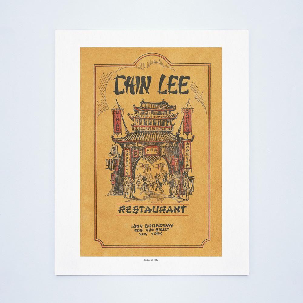 Chin lee new york 1930s vintage menu chinese menu