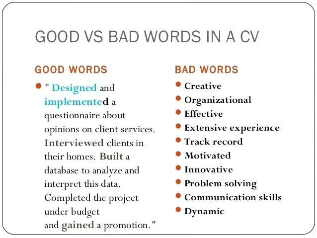 Resume Examples Good And Bad Resume Examples Pinterest Resume