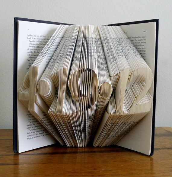 Folded Book Art I Would Love To Figure Out How Do This