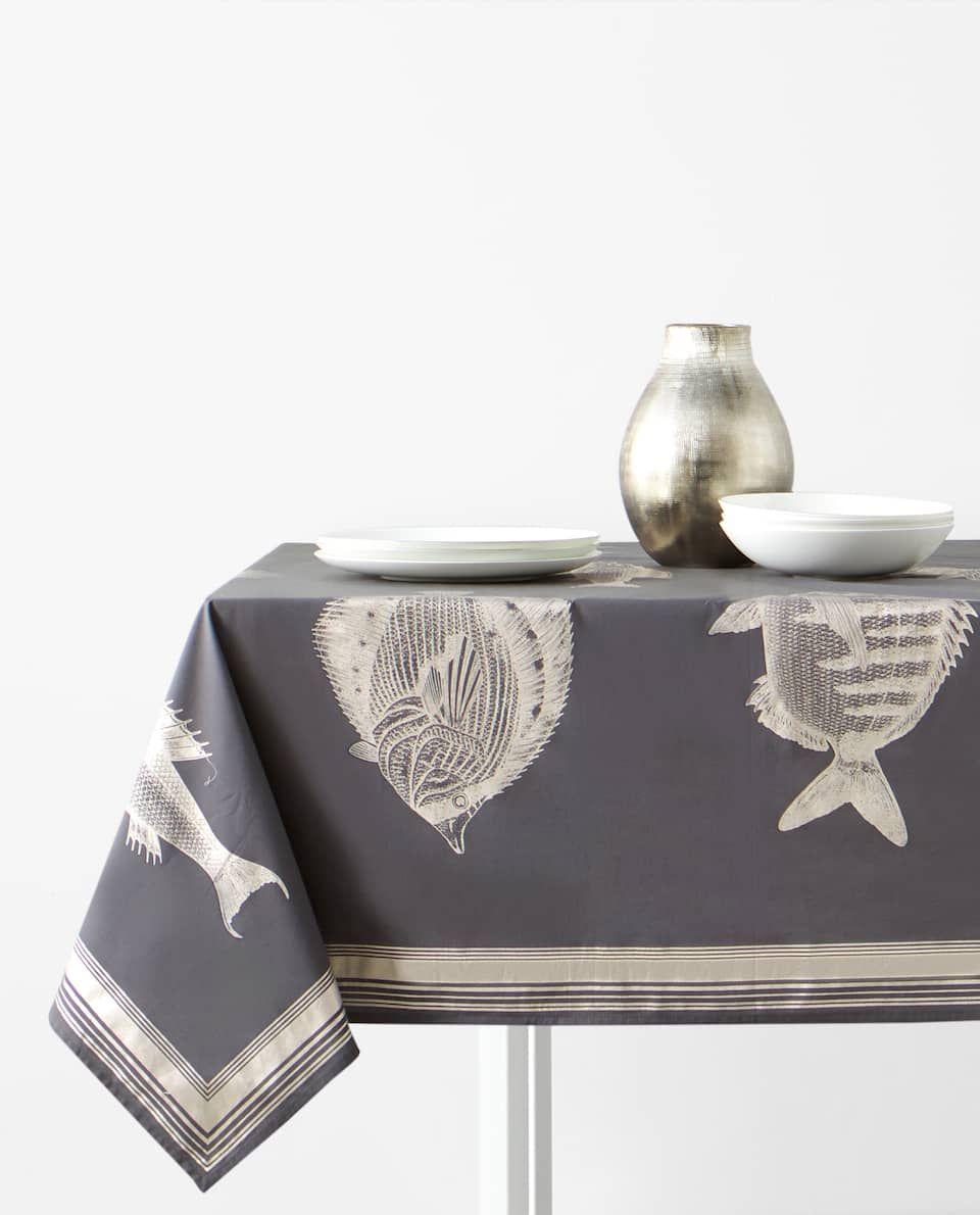 Tischdecke Mit Fischen Tischdecken Esszimmer New Collection Zara Home Deutschland Biancheria Da Tavola Zara Home Biancheria Da Letto