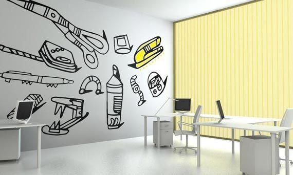 Another Wall Paint Idea Office Mural Flooring Inspiration