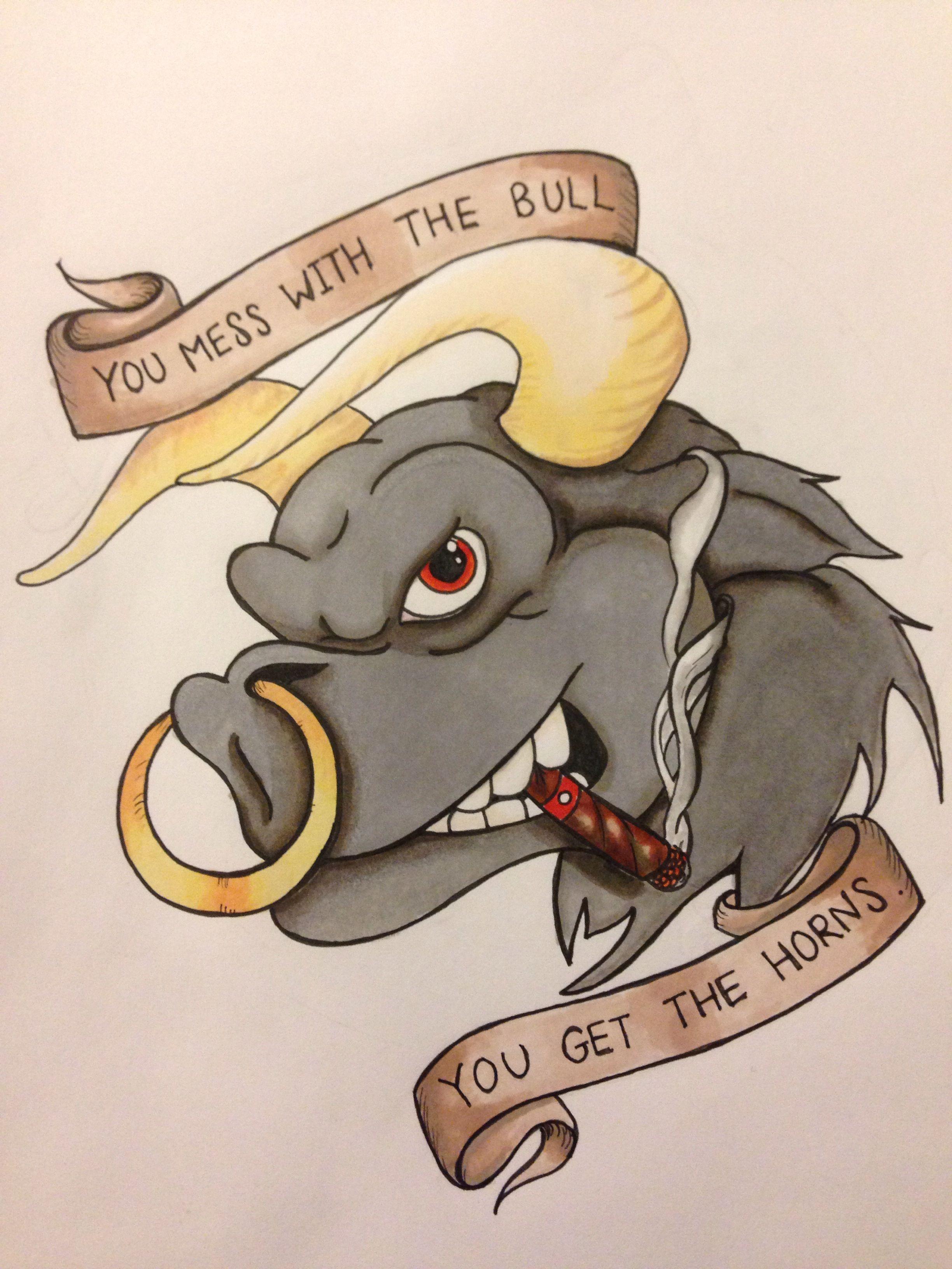 d6ed3cf5580c6d Angry Bull | Tatoos | Bull tattoos, Taurus bull tattoos, Taurus tattoos