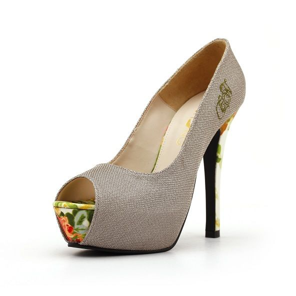 Limited edition embroidery ultimate high heels to wear for any parties or occasions. The elevated hidden platform in front makes the shoes extra comfy during prolonged wear.    Get your pair of perfect high heels at ChristyNg.com.