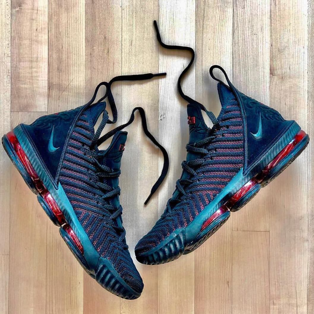 LeBron 16 in the traditional first Bred