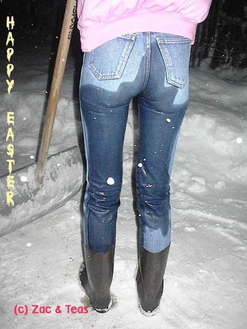 Jeans wetting Bild von Valent Hemming Nass