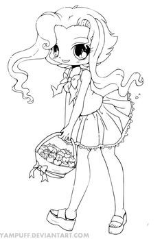 Cute Anime Coloring Pages For Adults Chibi Coloring
