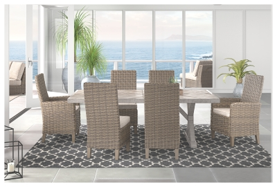 Beachcroft Side Chair with Cushion (Set of 2), Beige ... on Beachcroft Beige Outdoor Living Room Set id=89969