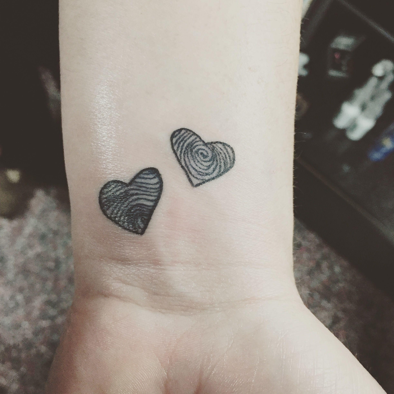 ae664eb85 Black fingerprint heart tattoos In love with my wrist tattoo ...
