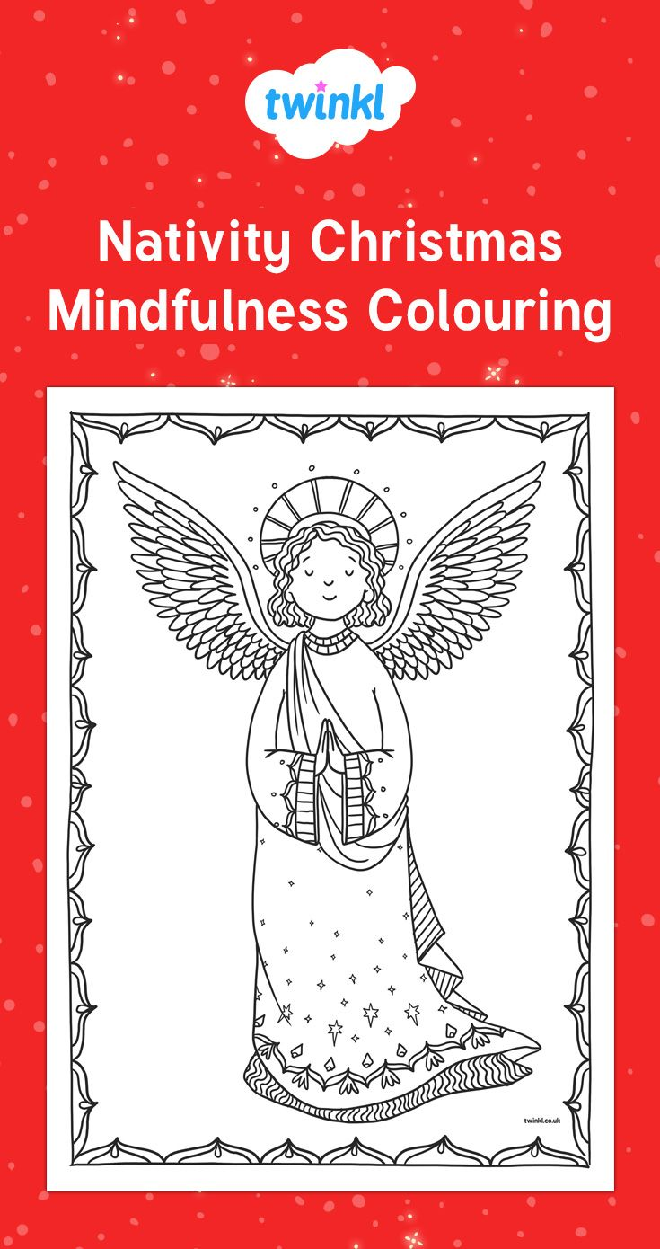 Nativity Christmas Mindfulness Colouring Mindfulness Colouring Nativity Christmas Coloring Pages