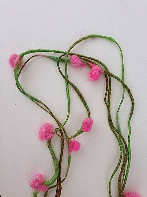 Cherry blossom art yarn | Amy Wilson on Flickr - Photo Sharing!