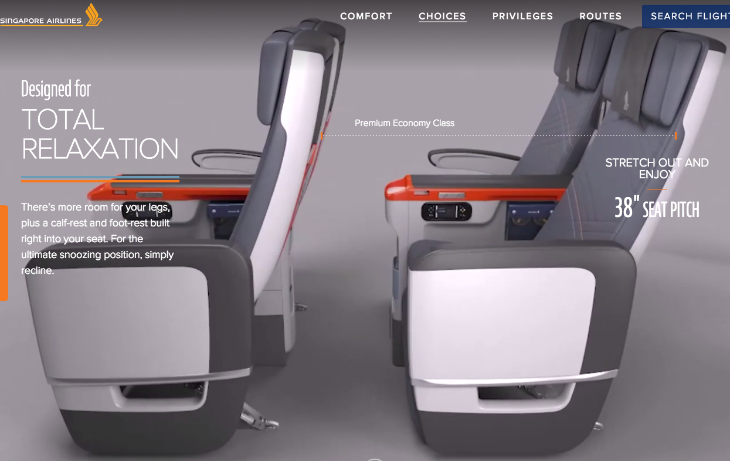 Singapore Air reveals a new seat. Why 上座, 山陽