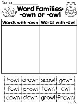 Phonics - ow, oa, o-e Words - TMK Education