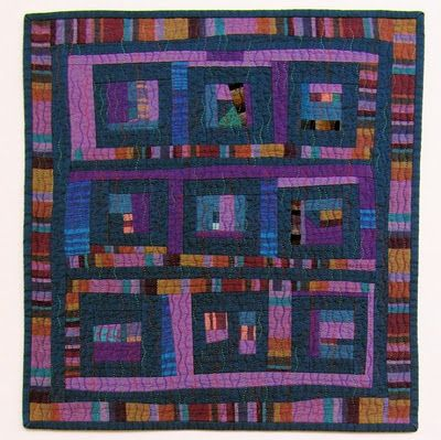 Mini scrap quilt by Victoria Gertenbach@ The Silly Boodilly