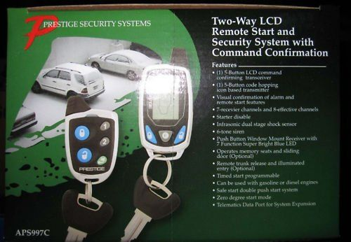 Prestige Aps997c 2way Car Alarm And Remote Starter New Model Prestige