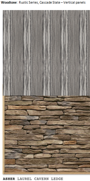 stonecraft veneer woodtone allura vertical cement siding