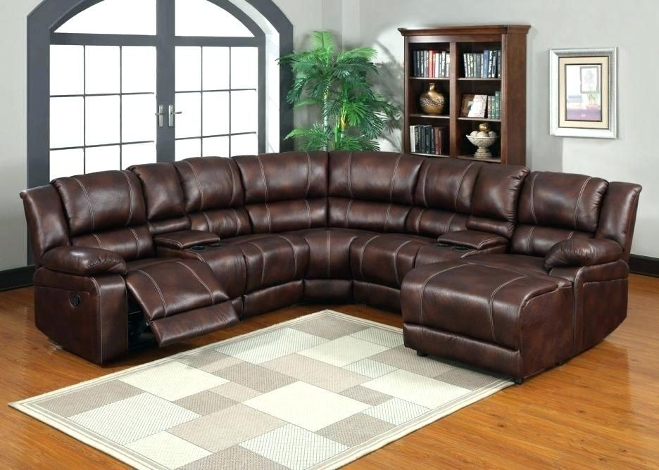 broyhill leather sectional   Leather sectional living room ...