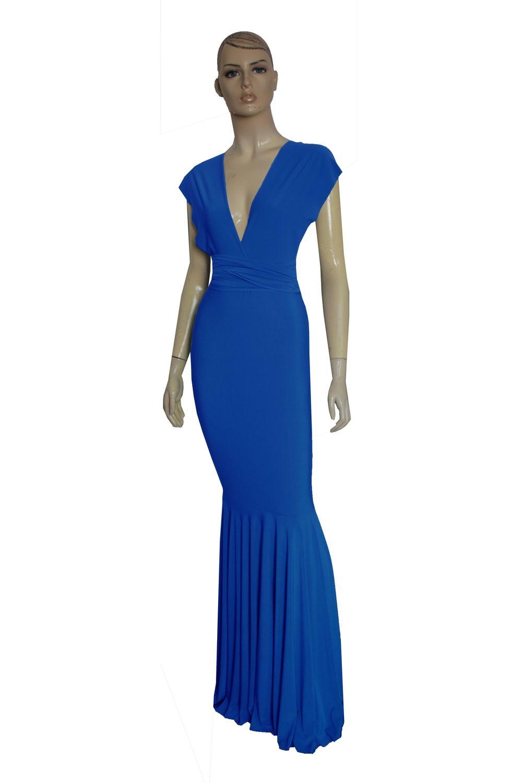 Royal blue wedding dresses plus size  Mermaid Infinity Dress Royal Blue Multiway Dress Bridesmaid