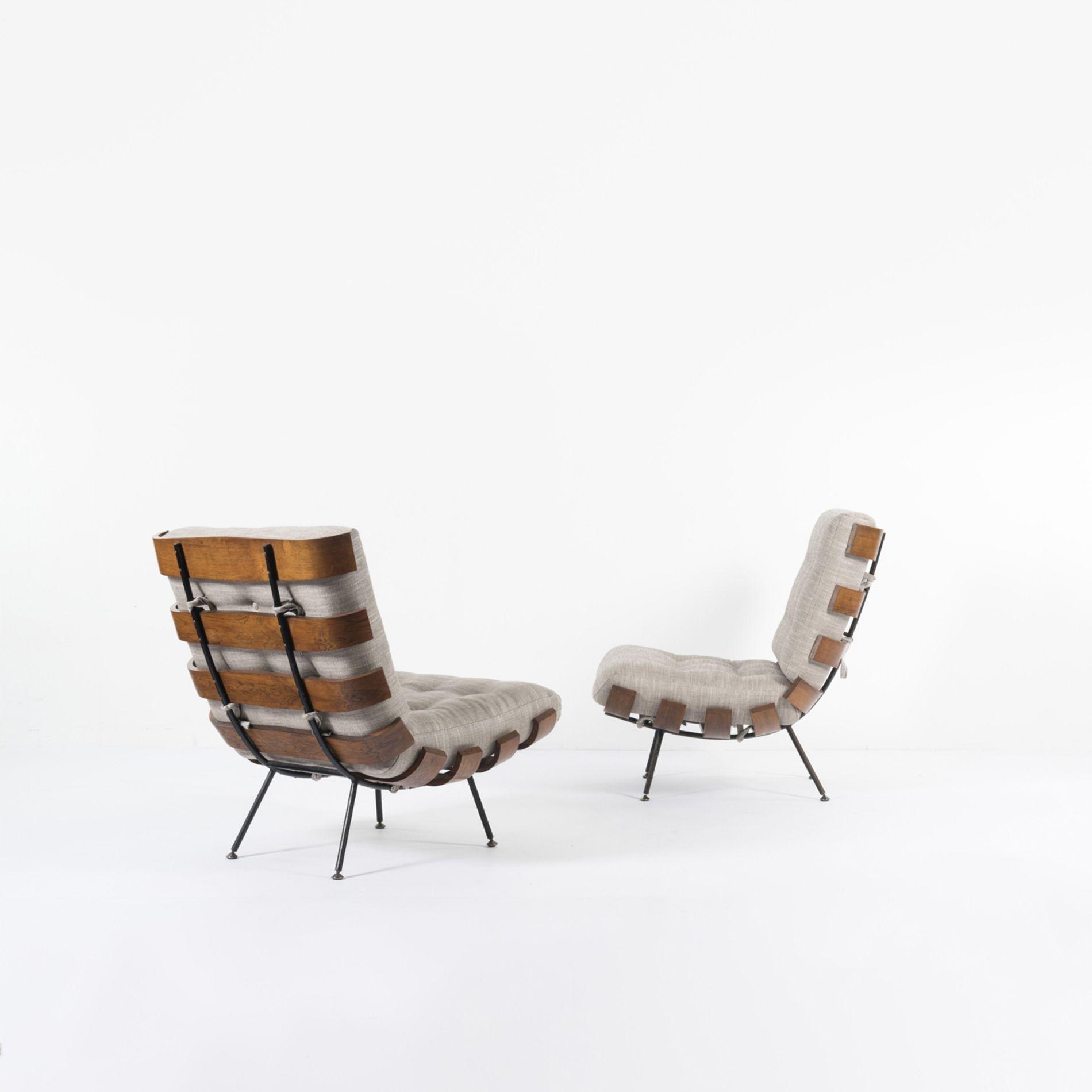 Martin Eisler et Carlo Hauner (XXe) Costela Paire de fauteuils ...