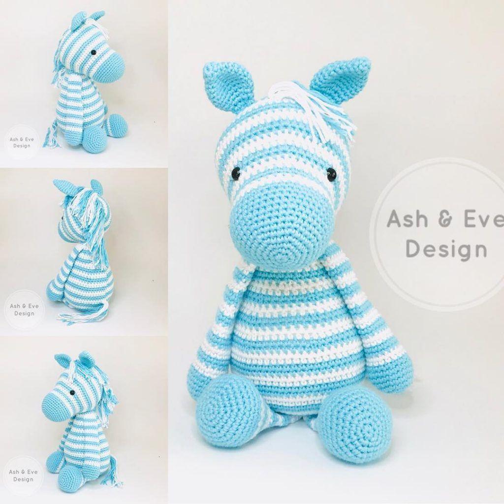 Free Crochet Zebra Pattern - thefriendlyredfox.com | 1024x1024