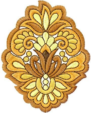 Flower free embroidery design 52  Machine embroidery design