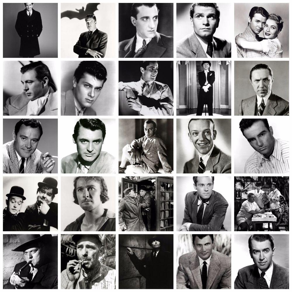 Black And White Photos Of Movie Stars