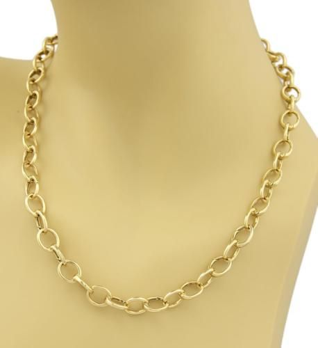 108393ba8 Tiffany-Co-18k-Yellow-Gold-Oval-Clasping-Link-Necklace | Tiffany ...