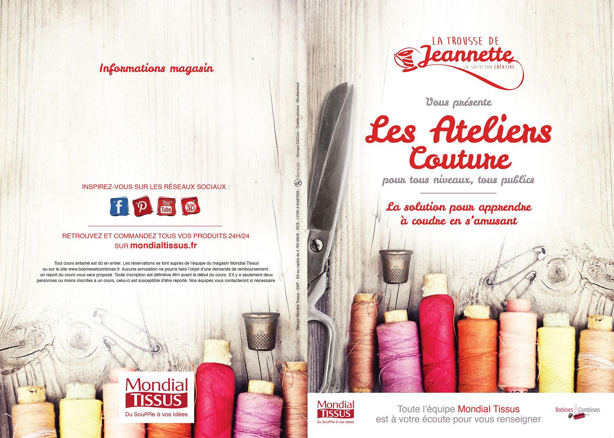 le flyer des ateliers couture mondial