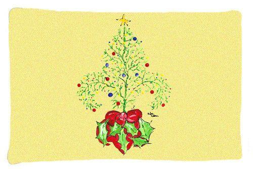 Christmas Tree Fleur de lis Moisture wicking Fabric standard pillowcase