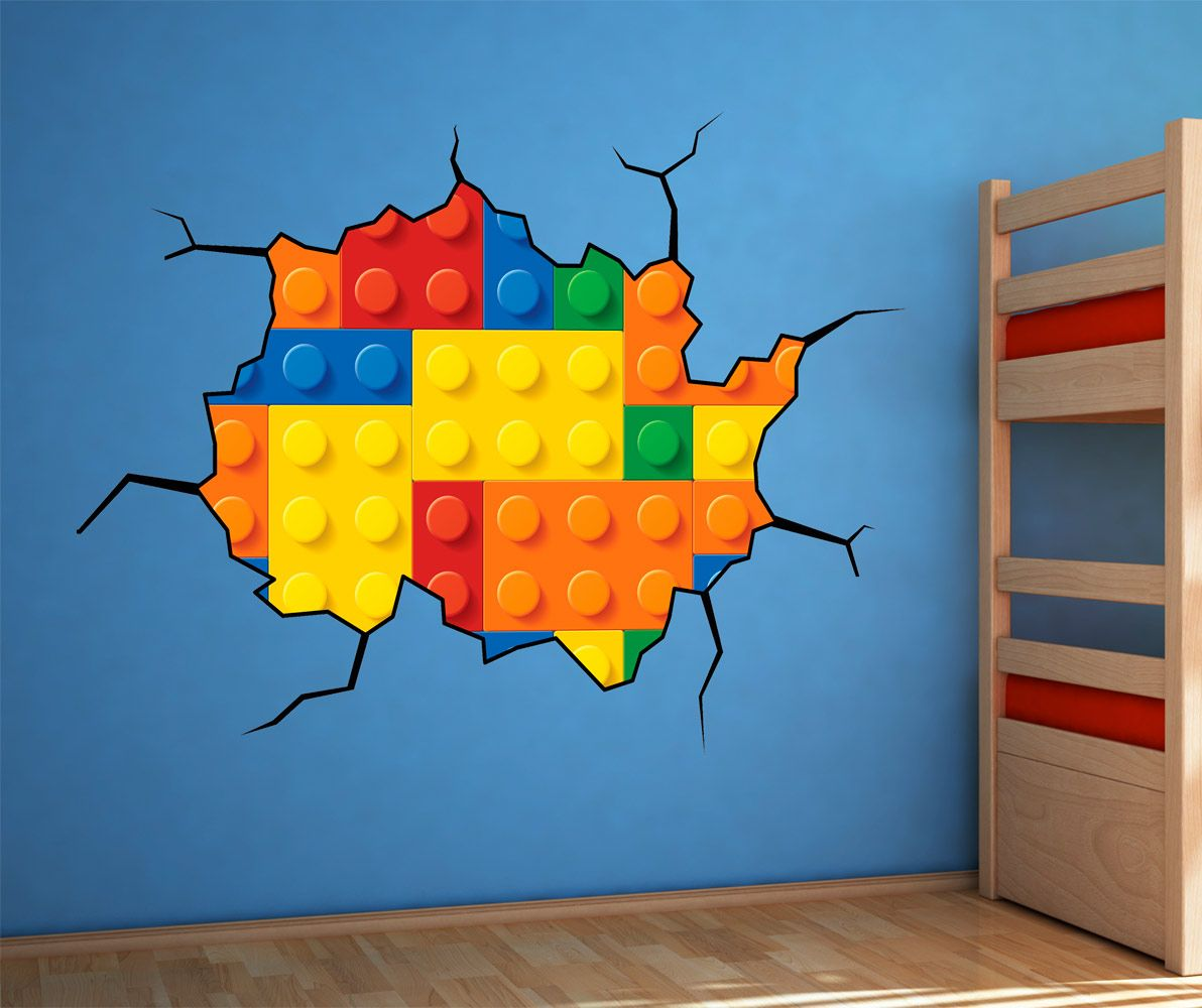 Lego Wallpaper Sticker Vynil Great Design At Bouf Com Kids Room