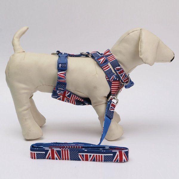 Us 2 79 Us 5 29 Union Jack Dog Harness Collar Leash Adjustable