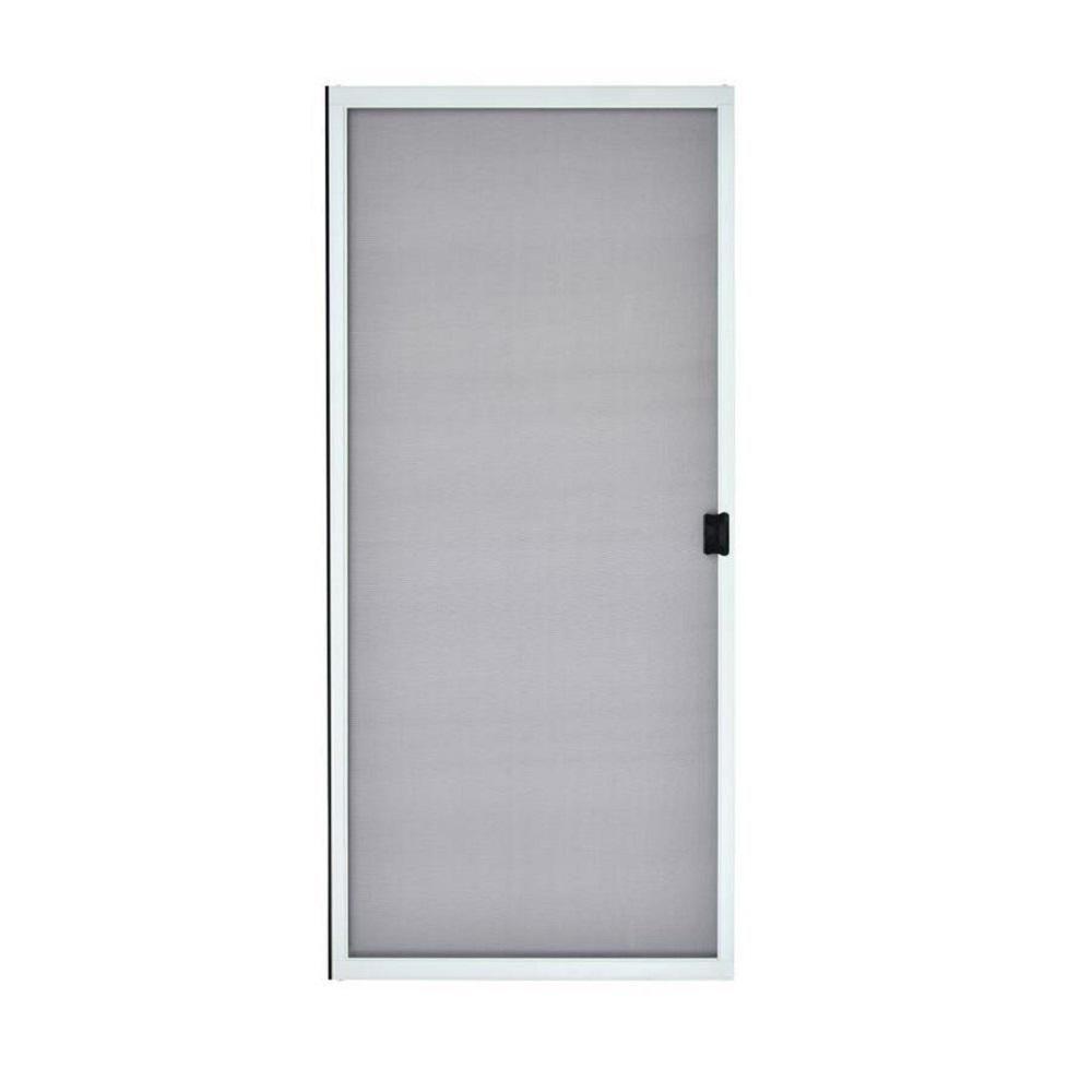 Mmi Door 31 In X 79 5 8 In White Steel Sliding Patio Screen Door Z009462 The Home Depot In 2020 Sliding Screen Doors Screen Door Sliding Patio Screen Door
