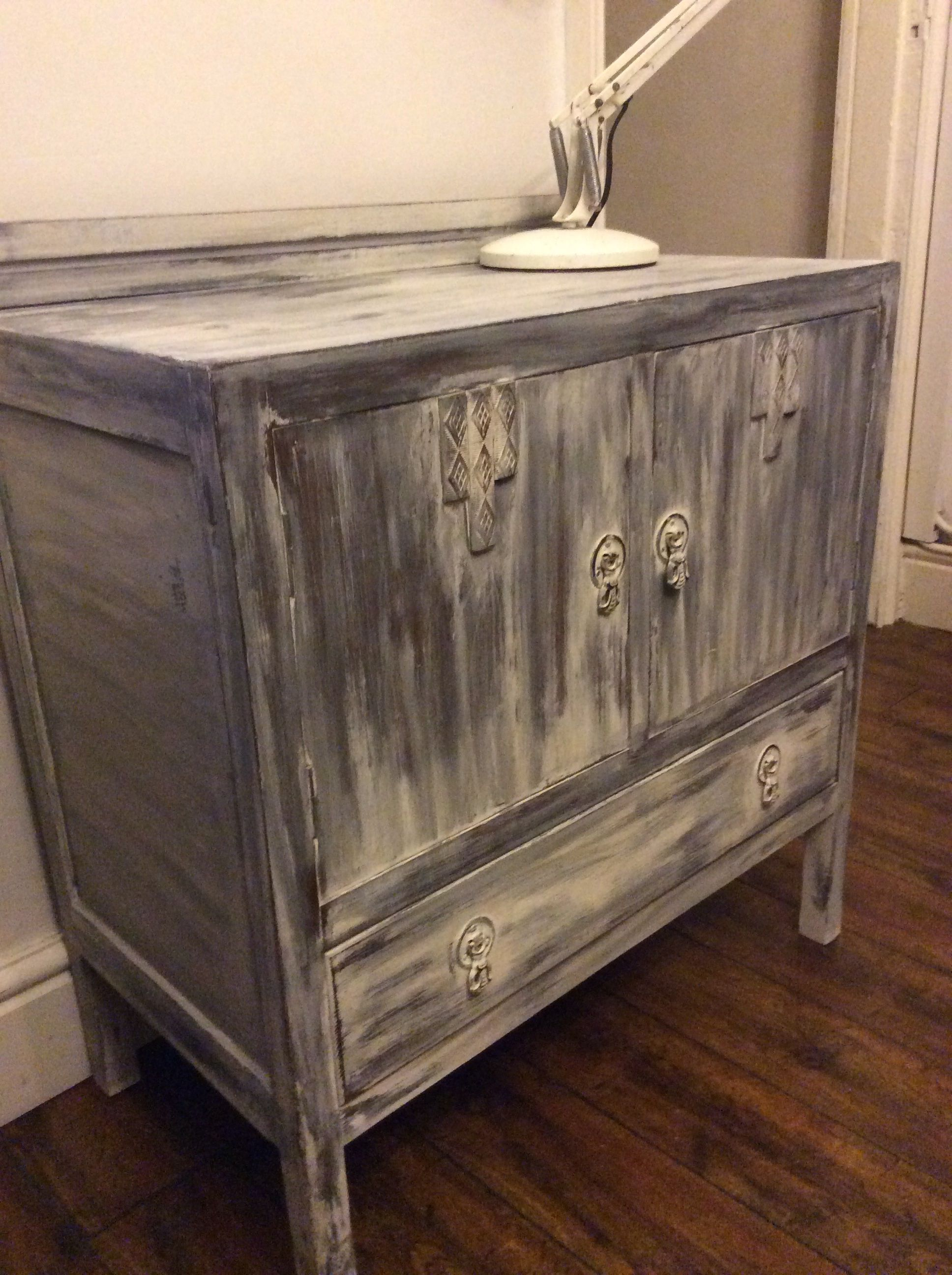 Vintage cupboard , painted in AS graphite and original