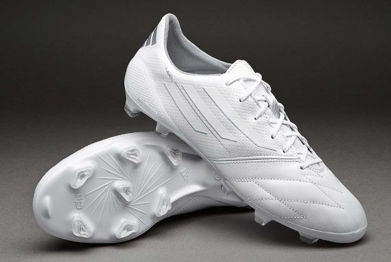 the best attitude a4fc4 a468a adidas F50 adizero Leather FG - Running White Metallic Silver
