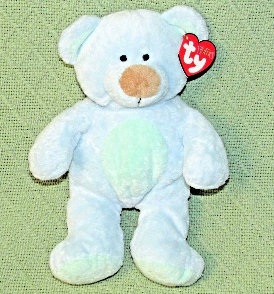 cfa1a278ee0 Ty BLUEBERRY Pluffies Teddy Bear HEART TAG 9