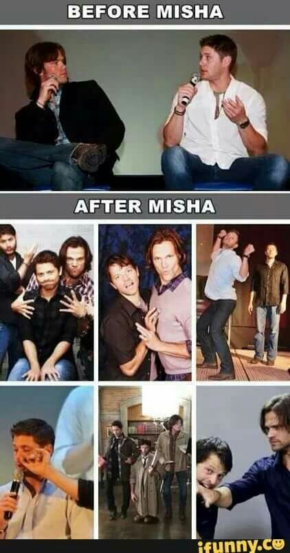 Thank God for Misha! #Supernatural