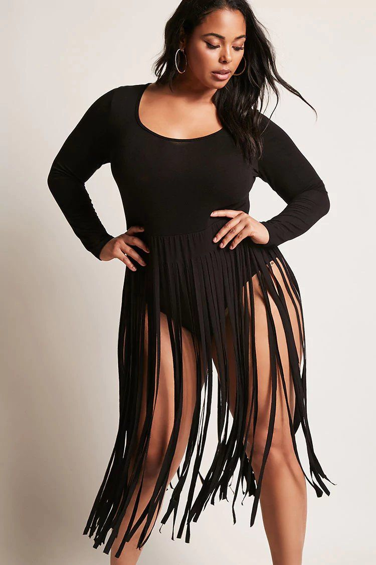 0730865d56d Product Name Plus Size Fringe Bodysuit