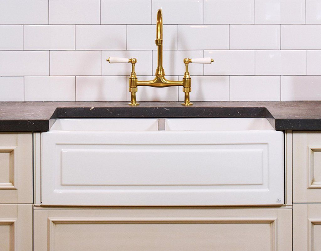 Double french farmhouse sink 833 x 500 x 250mm double