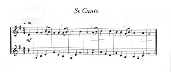 partition musique se canto