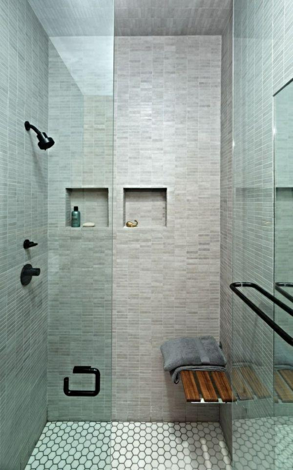 Gestalten Fotos Mosaik Stein Fliesen Hellgrün Duschkabine